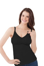 Bravado Essential Nursing Bra Tank (Black) by Bravado