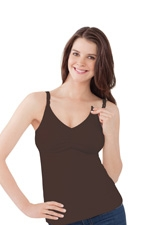 Bravado Essential Nursing Bra Tank (Chocolate) by Bravado