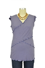 JW Flutter Cross Front Nursing Top (sleeveless) (Boysenberry) by Japanese Weekend