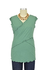 JW Flutter Cross Front Nursing Top (sleeveless) (Green) by Japanese Weekend