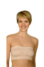 La Leche League Seamless Strapless Nursing Bra (Nude) by La Leche League International