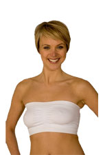 La Leche League Seamless Strapless Nursing Bra (White) by La Leche League International