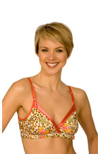 La Leche League Wrap N' Snap Nursing Bra (Floral Animal) by La Leche League International