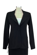 Olian's Career Maternity Jacket (Black) by Olian