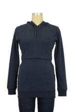 B-Warmer Knitted Nursing Hoodie (Ink Blue) by Boob