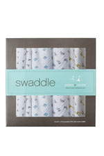 Australian Muslin Swaddling Wraps - 4 Pack (Jungle Jam) by Aden & Anais