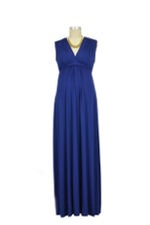Lucy Sleeveless Maxi Maternity Gown (True Blue) by Olian