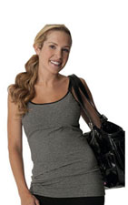 Glamourmom Nursing Bra Long Top (Black & Grey) by Glamourmom