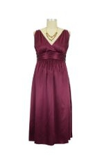 Ripe Deluxe Satin Maternity Evening Dress (Wine) by Ripe Maternity