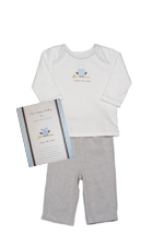 Whooo's the Cutest Baby Boy Gift Set (Whooo's the Cutest) by B Amici