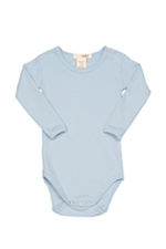 L'ovedbaby Long-Sleeve Baby Boy Bodysuit (True Blue) by L'ovedbaby
