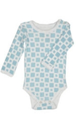 L'ovedbaby Long-Sleeve Baby Boy Bodysuit (Blue Tile) by L'ovedbaby