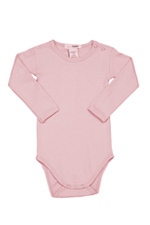 L'ovedbaby Long-Sleeve Baby Girl Bodysuit (Think Pink) by L'ovedbaby