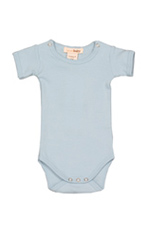 L'ovedbaby Short-Sleeve Baby Boy Bodysuit (True Blue) by L'ovedbaby