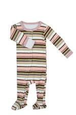 L'ovedbaby Gl'oved-Sleeve Baby Girl Overall (Warm Stripes) by L'ovedbaby