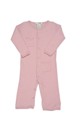 L'ovedbaby Long-Sleeve Baby Girl Overall (Think Pink) by L'ovedbaby