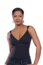 Japanese Weekend Bodyshaper Nursing Top (Black) by Japanese Weekend