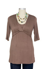 JW D&A Draped Neck Nursing Top (Mocha) by Japanese Weekend