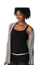 Glamourmom Nursing Bra Full Bust Long Top (Black) by Glamourmom