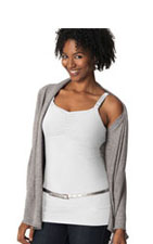 Glamourmom Nursing Bra Full Bust Long Top (White) by Glamourmom