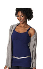 Glamourmom Nursing Bra Full Bust Long Top (Midnight Blue) by Glamourmom
