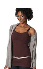 Glamourmom Nursing Bra Full Bust Long Top (Chocolate) by Glamourmom
