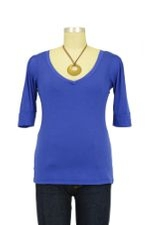 The Michelle Nursing Top (Great-with-Denim Blue) by Milkstars