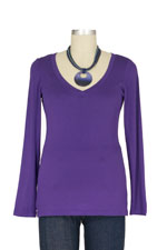 The Rachel Nursing Top (Purple) by Milkstars