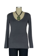 The Rachel Nursing Top (Grey) by Milkstars