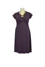 JW D&A Bamboo Twist Front Nursing Dress (Eggplant) by Japanese Weekend
