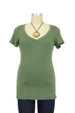 The Julian Nursing Top (Army Green) by Milkstars