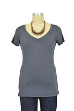 The Julian Nursing Top (Gray) by Milkstars