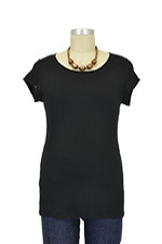 The Jenny Nursing Top (Black) by Milkstars