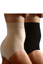 Tummy Cut Incision Care Post-Cesarean Panty-2 Pack (Black & Nude) by C-Panty