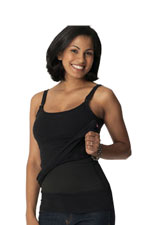 Glamourmom Tummy Control Nursing Bra Long Tank (Black) by Glamourmom