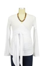 The Bella Wrap Around Maternity Top (White) by Lilac Maternity & More