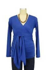 The Bella Wrap Around Maternity Top (Cobalt) by Lilac Maternity & More