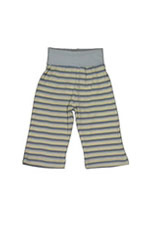 Under the Nile Rolled Waist Organic Baby Boy Pant (Blue Stripes) by Under the Nile