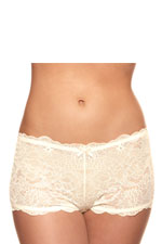 The Allure Boycut Maternity Shorts (Ivory) by Bravado
