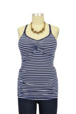 Ripe Ultimate Express Nursing Tank (Navy/White Stripe) by Ripe Maternity