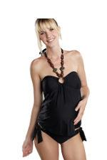 Tami Wooden Beaded Straps 2-pc. Maternity Tankini (Black) by Maternal America