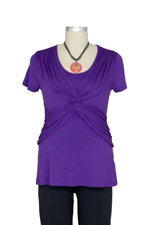 Laurie Interlace Nursing Top (Eggplant) by Maternal America