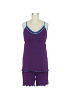 D&A Nursing PJ Short Set (Purple) by Japanese Weekend