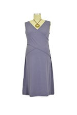 JW Cross-My-Heart Sleeveless Nursing Dress (Boysenberry) by Japanese Weekend