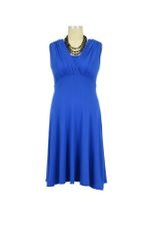 Lila Tummy Tuck Nursing Dress (Royal) by Maternal America