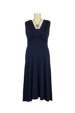 Lila Tummy Tuck Nursing Dress (Navy) by Maternal America