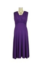 Lila Tummy Tuck Nursing Dress (Grape) by Maternal America