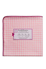 Swaddle Designs Ultimate Receiving Blanket (Pink Puppytooth) by SwaddleDesigns