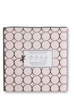 Swaddle Designs Ultimate Receiving Blanket (Pastel Pink w. Brown Circles) by SwaddleDesigns