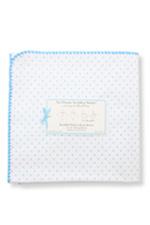 Swaddle Designs Ultimate Receiving Blanket (Blue Polka Dots) by SwaddleDesigns